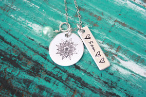 sacred necklace 1 tag Sam plus hearts