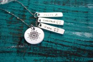sacred necklace 3 name tags